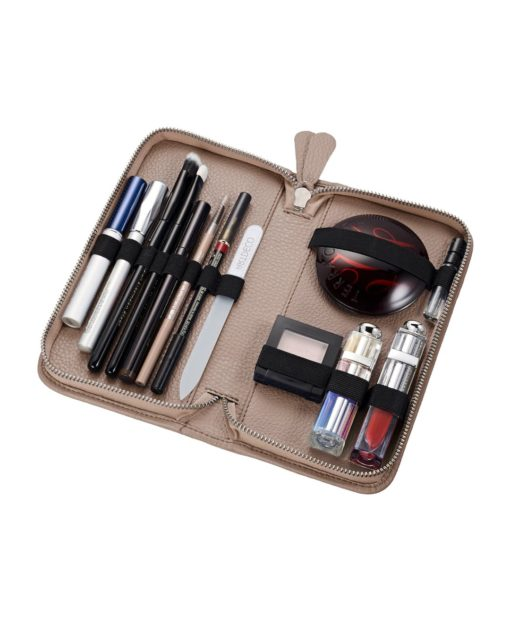 Beauty Case klein KATIE Leder taupe Pericosa
