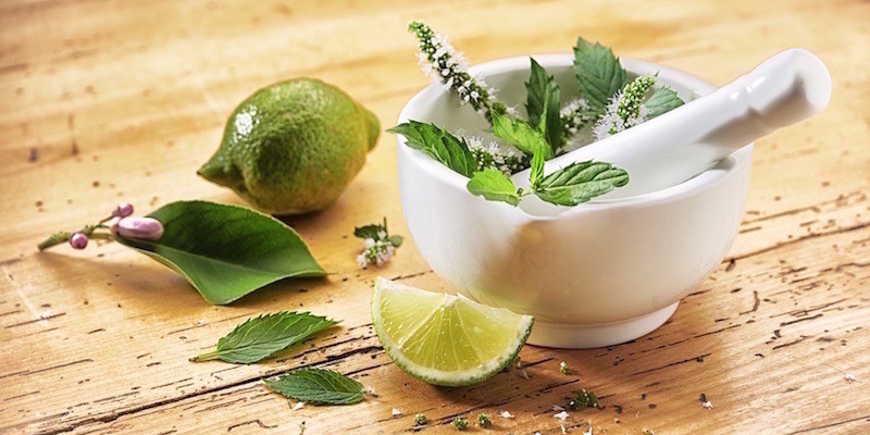 Naturprodukte Limette, Bergamotte, Minze