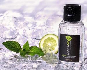 Hygiene-Handgel mit Limette, Bergamotte, Minze