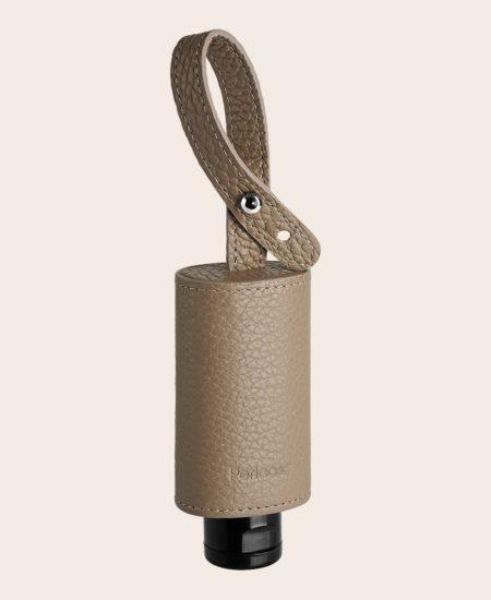 CarryME-Set Classic beige Leder-Etui RefreshME Hand-Desinfektions-Gel