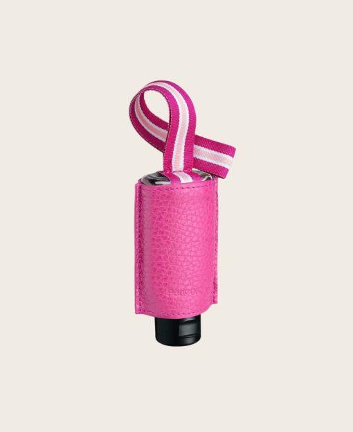 CarryME-Set Pure pink RefreshME Hände-Desinfektionsgel Leder-Taschenanhänger