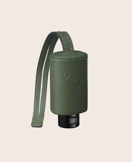 RefreshME Hand Desinfektiongel Leder-Etui CarryME-Set Tracht grün