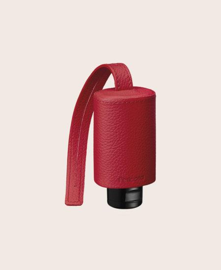 Hände Desinfektion Handgel Leder-Etui CarryME-Set CLASSIC rot
