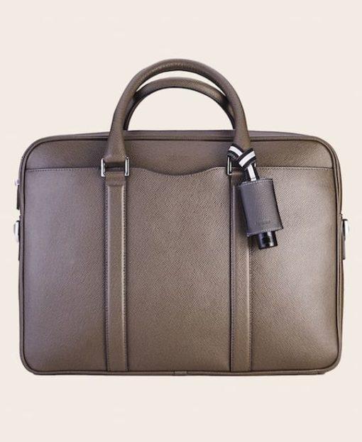 Hygiene Handgel Leder-Etui CarryME-Set PURE grau Tasche olive