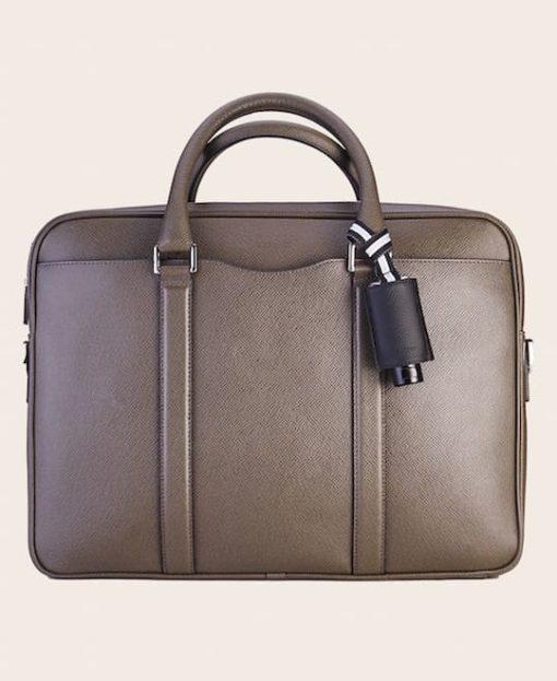 Hygiene Handgel Leder-Etui CarryME-Set PURE schwarz Tasche olive