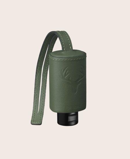 Hände Desinfektion CarryME-Set TRACHT grün Handgel Leder-Etui