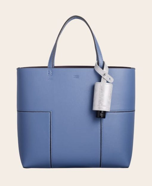 CarryME-Set TREND silber Tasche blau Handgel Leder-Etui