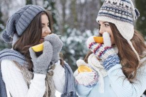Frauen Winter Vitamine