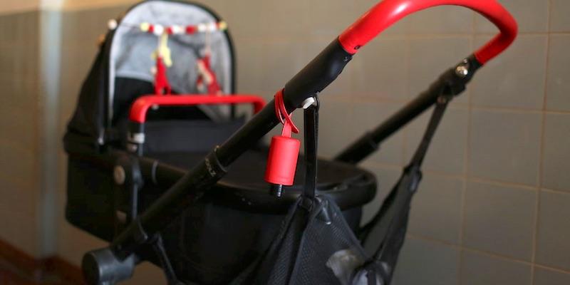 Hände Desinfektion Kinderwagen RefreshME Leder-Taschenanhänger