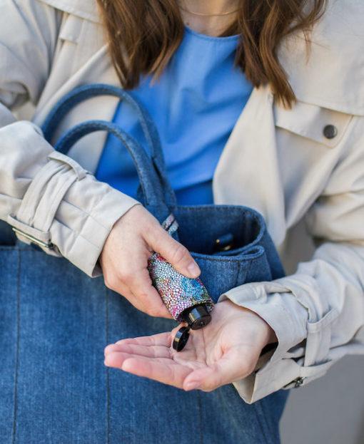 Hand Desinfektionsgel RefreshME Leder Taschenanhänger