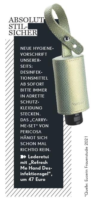 Handdesinfektionsgel Etui Leder BARBARA Magazin