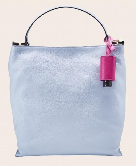 Hygiene-Handgel Taschenanhänger pink Tasche hellblau