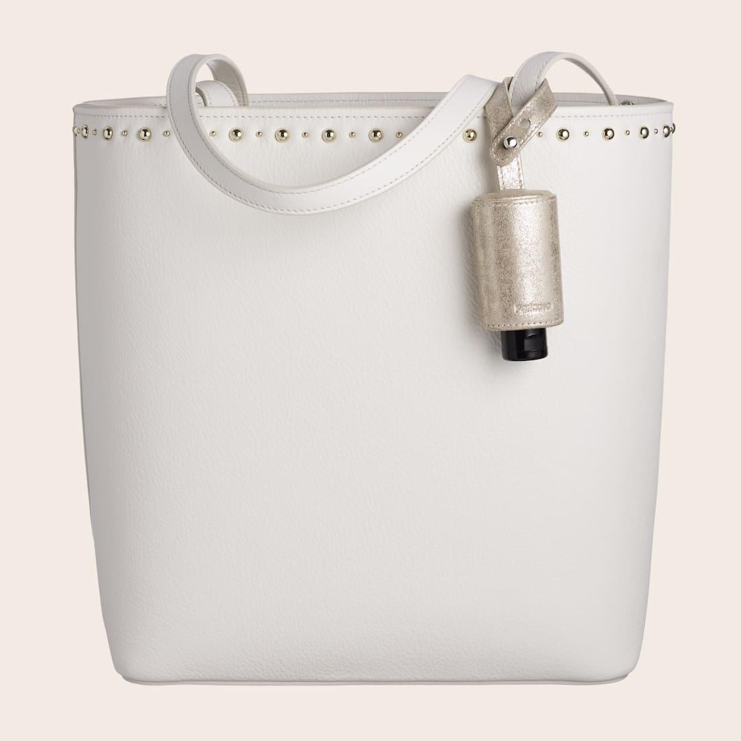 Hygiene Handgel Leder-Taschenanhänger CarryME-Set TREND gold