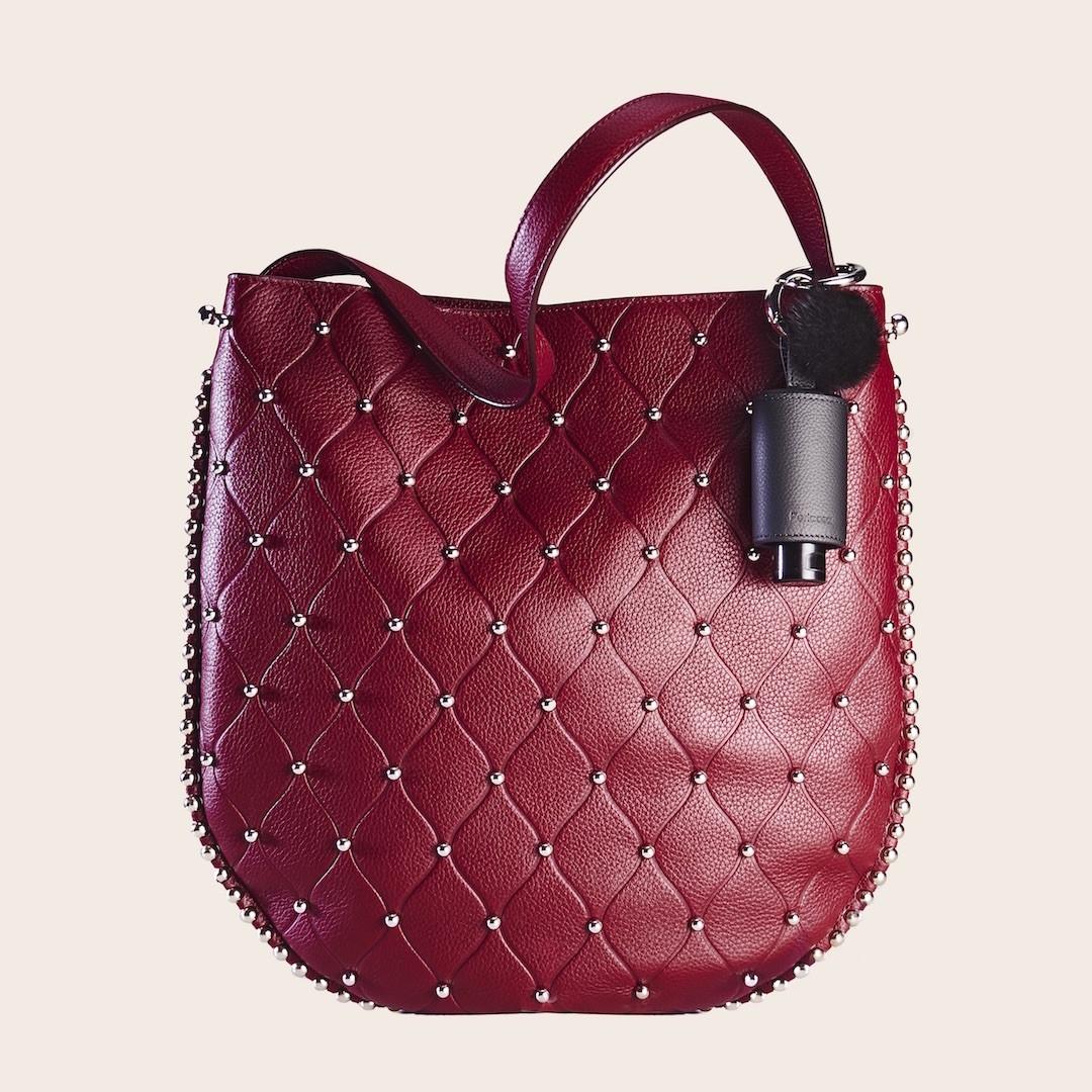 Hygiene Handgel Taschenanhänger CarryME-Set DELUXE Nietentasche