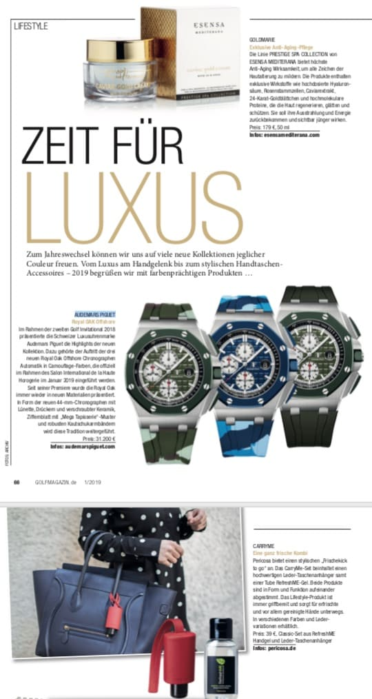 Luxus CarryME-Set Golf Magazin