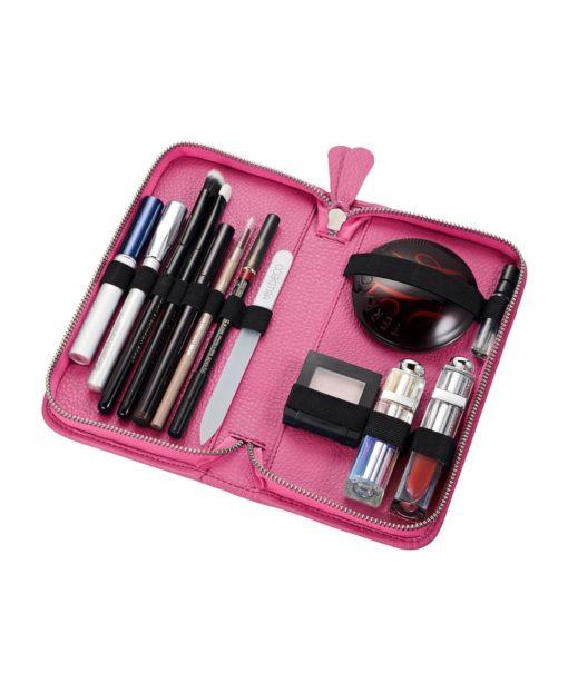 Make up Tasche Leder KATIE pink klein Pericosa