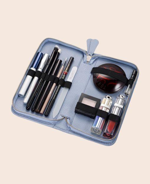 Makeup Tasche klein hellblau KATIE Pericosa
