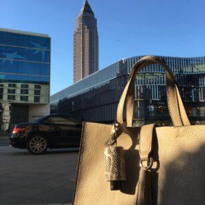 Messe Frankfurt tendence Pericosa Leder-Taschenanhänger