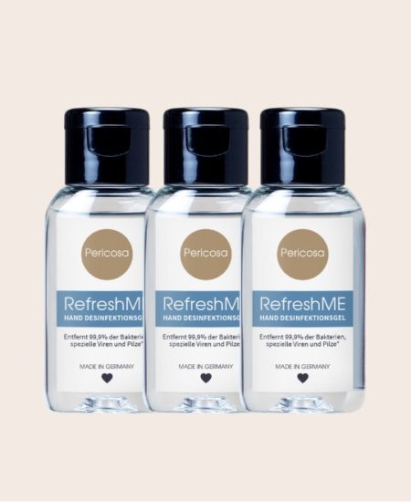 Pericosa RefreshME Haendedesinfektion viruzid 3er-Set 90ml