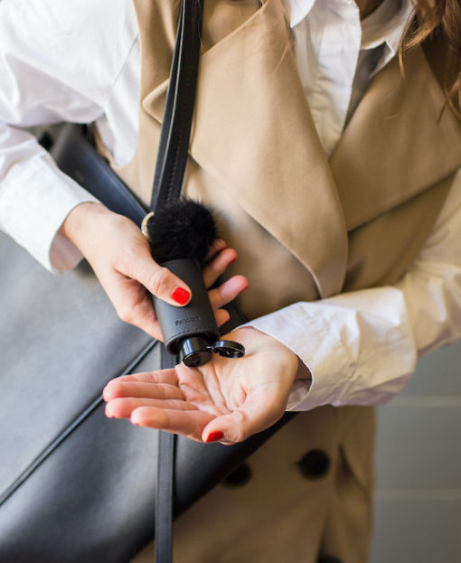 RefreshME Handdesinfektionsgel viruzid im Leder-Etui