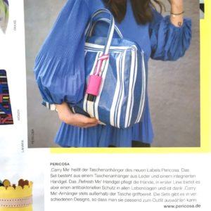 TextilMitteilungen Leder Taschenanhänger Handgel Accessoires